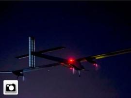 El avión solar despega de Madrid rumbo a Rabat